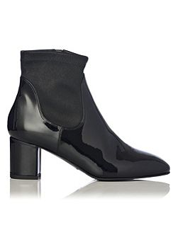 Shelley patent leather ankle boots