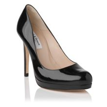 L.K. Bennett Sledge round toe court shoes