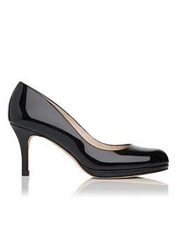 Sybila patent leather court shoes