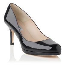 L.K. Bennett Sybila patent leather court shoes