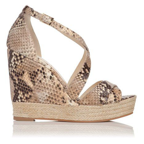 Corfu criss cross closed back wedge shoes