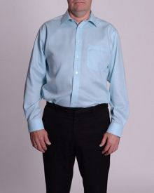 Double TWO Plain Non iron micro twill Shirt