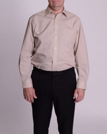 Double TWO Plain Poplin Long Sleeve Shirt