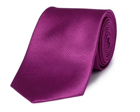 Double TWO Plain silk tie