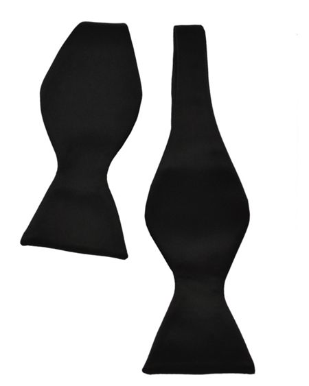 Double TWO Plain self tie bow tie