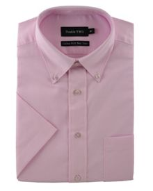 Double TWO Half sleeve oxford formal shirt