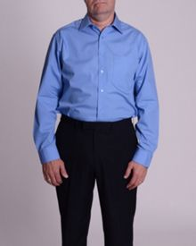 Double TWO Plain Poplin 100% Cotton Shirt