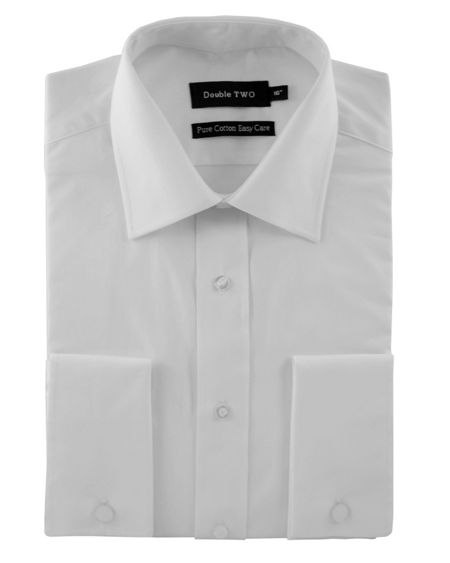 Double TWO 100% Cotton Poplin Double Cuff Shirt