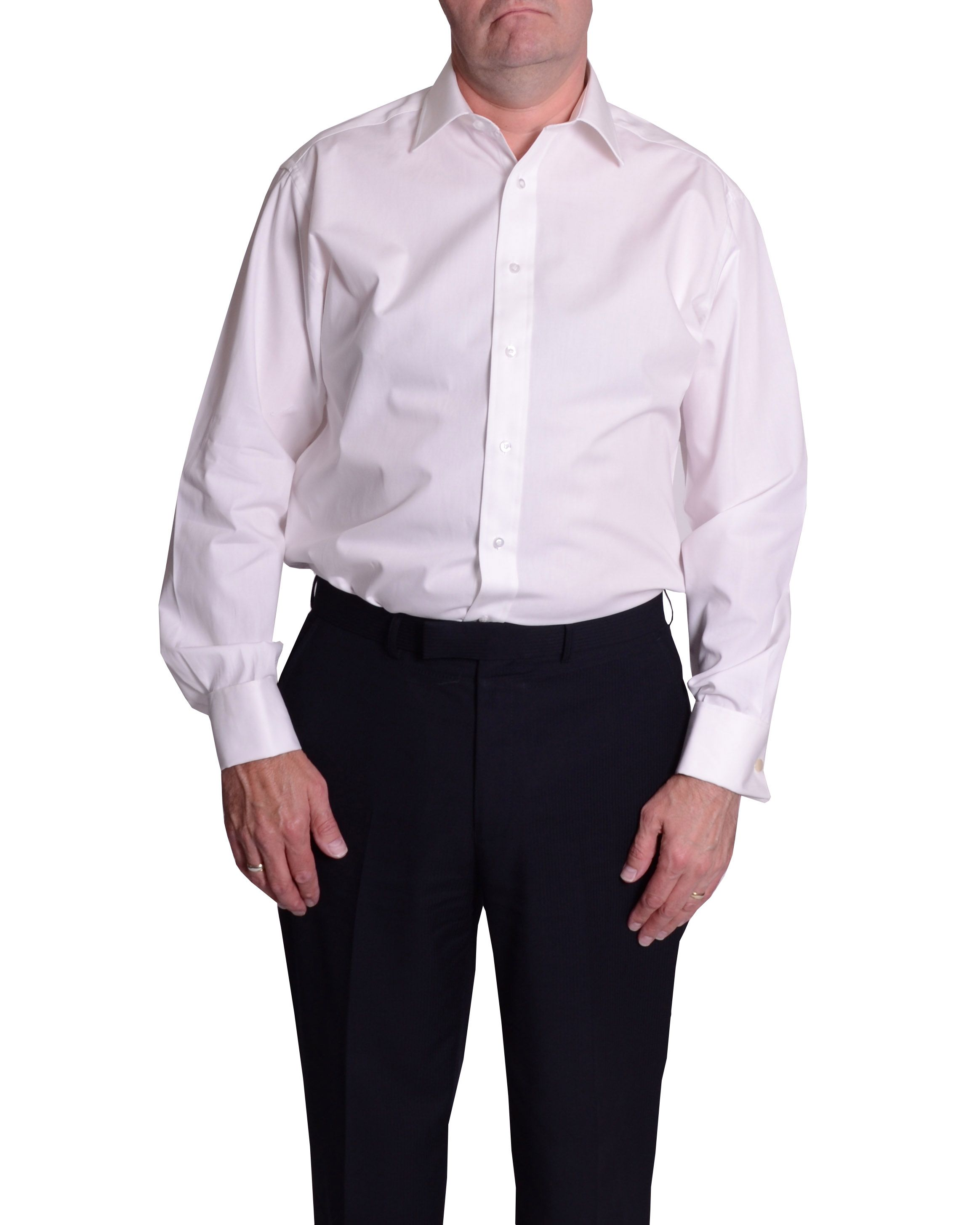 King Size 100% Cotton Poplin Double Cuff Shirt