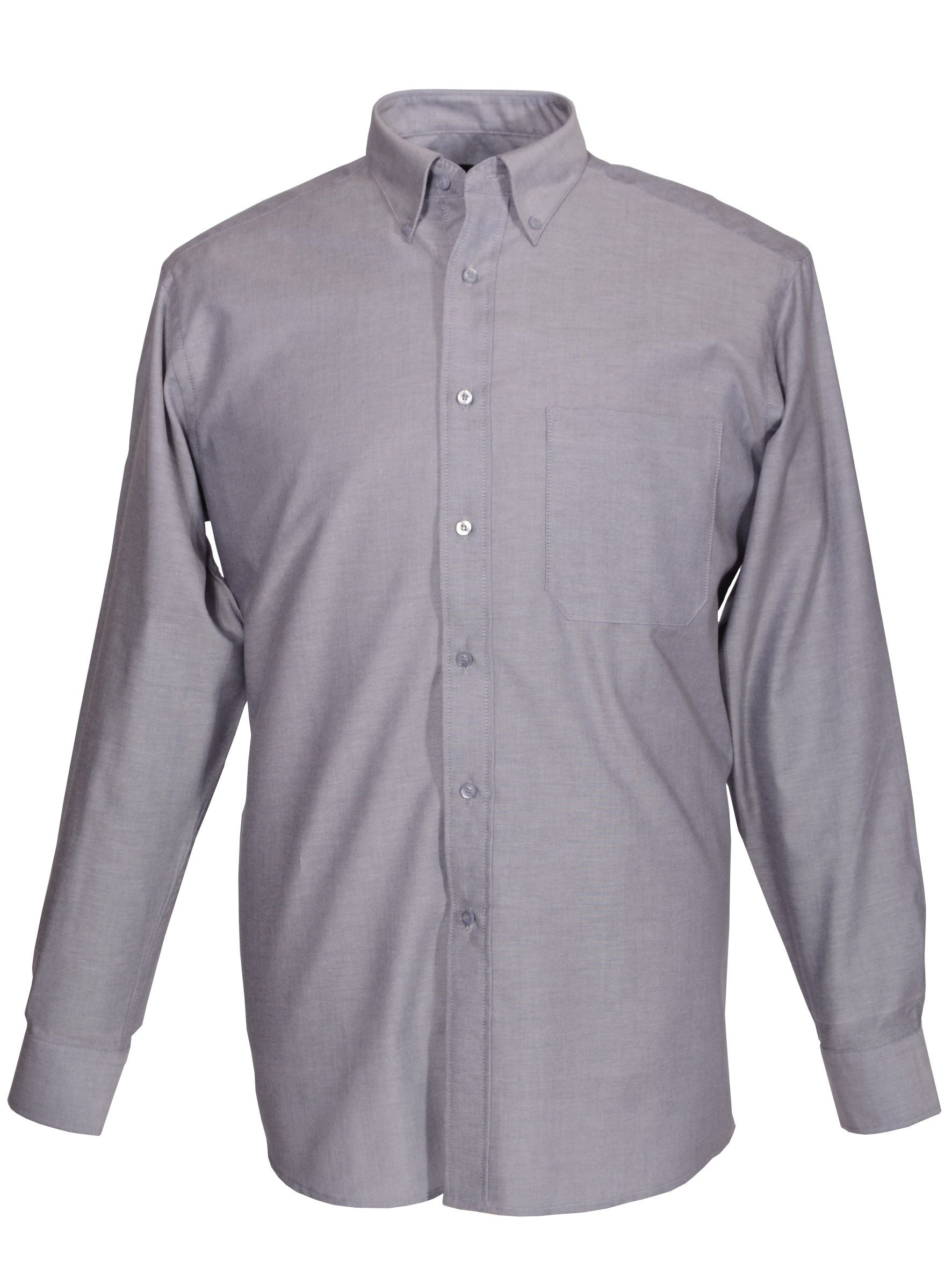 Long Sleeve Oxford Non Iron and Cotton Rich