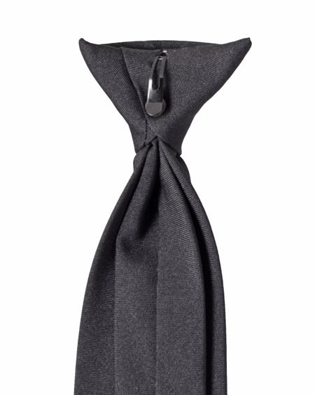 Double TWO Plain clip on tie
