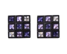 Square swarovski crystal cufflinks