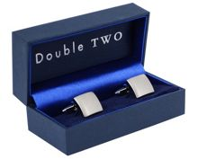Plain brushed square cufflinks