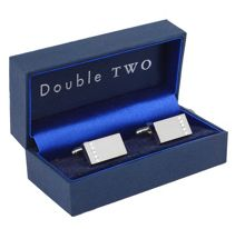 Rectangle swarovski crystal cufflinks