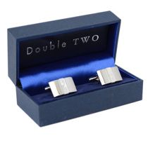 Shaped mother of pearl insert cufflinks
