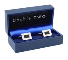 Rectangle shaped cufflinks