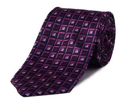 Double TWO Square polyester tie
