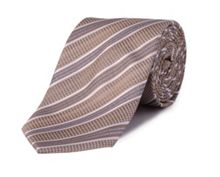 Double TWO Stripe polyester tie