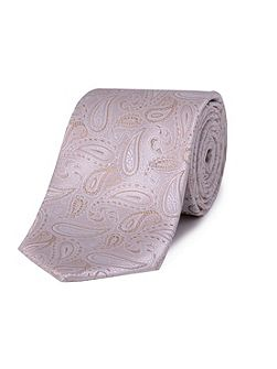 Double TWO Paisley silk tie