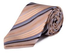 Double TWO Stripe silk tie