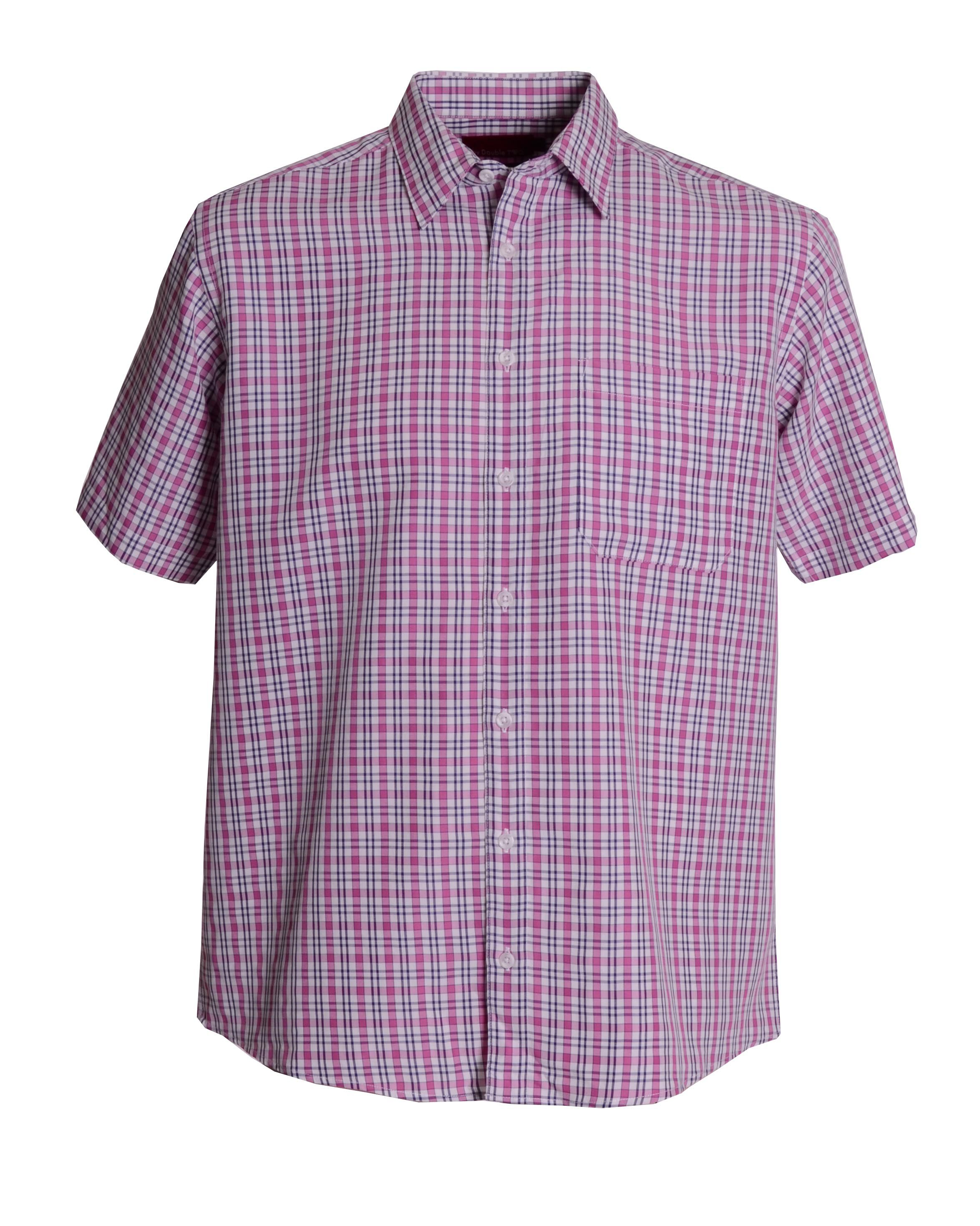 King size modal check long sleeve shirt