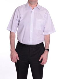 Double TWO Stripe regular fit short sleeve shirt