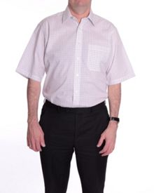 Check regular fit short sleeve shirt