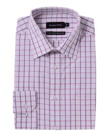Double TWO Check regular fit long sleeve shirt