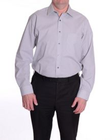 Check regular fit long sleeve shirt
