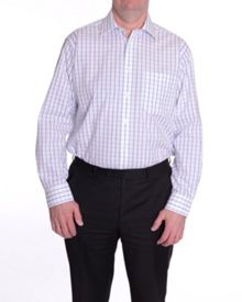 King size check long sleeve shirt