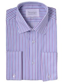 Cotton micro twill stripe shirt