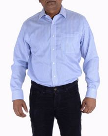 Double TWO Cotton micro twill stripe shirt