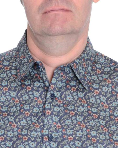 Double TWO Floral Classic Fit Long Sleeve Shirt