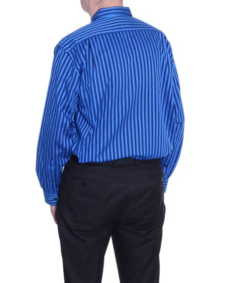 Double TWO Striped Classic Fit Long Sleeve Shirt