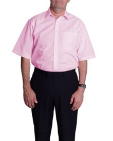 Double TWO Plain Classic Fit Short Sleeve Formal Shirt