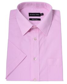 Double TWO Plain Classic Fit Short Sleeve Shirt