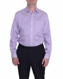 Double TWO Stripe Regular Fit Long Sleeve Formal Shirt