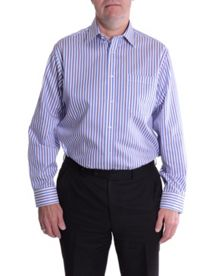 Striped Micro Twill Long Sleeve Formal Shirt