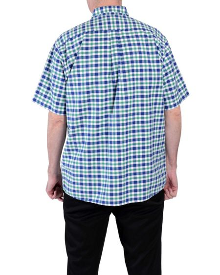 Double TWO Check Classic Fit Button Down Shirt