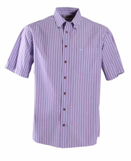 Double TWO Stripe Classic Fit Button Down Shirt