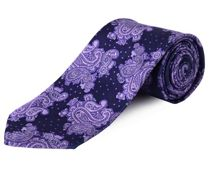 Clip On Paisley Patterned Tie