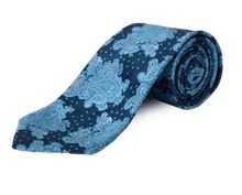 Double TWO Clip On Paisley Patterned Tie
