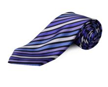 Double TWO Clip On Stripe Tie