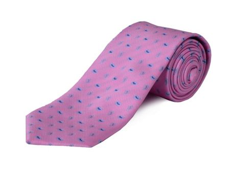Double TWO Clip On Paisley Polyester Tie