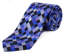 Double TWO Extra Long Diamond Check Tie