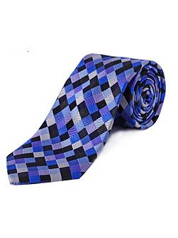 Extra Long Diamond Check Tie