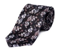Floral Patterned Silk Tie