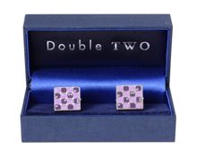 Double TWO Square Print Cufflinks