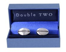Double TWO Silver Cufflinks