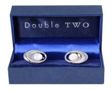 Double TWO Oval Cufflinks